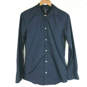 🍁H&M Easy Iron Slim Fit Button Down Shirt XS